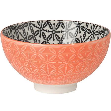 《NOW》雙色壓紋餐碗(橘)