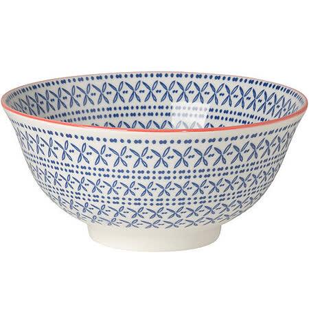 《NOW》圖騰餐碗(花卉藍)