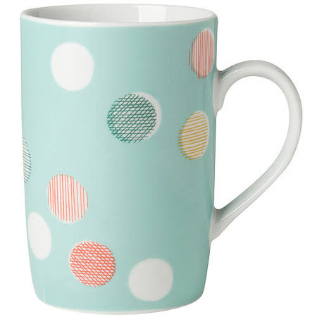 《DANICA》單柄馬克杯(粉點藍)