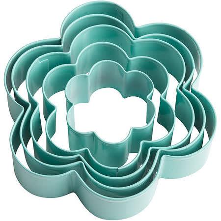 《TRUDEAU》花朵餅乾壓模5件(綠)