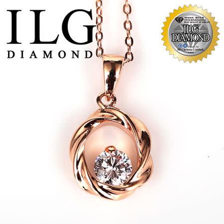【ILG鑽】鑽石頂級八心八箭鋯美鑽石項練 - NC052