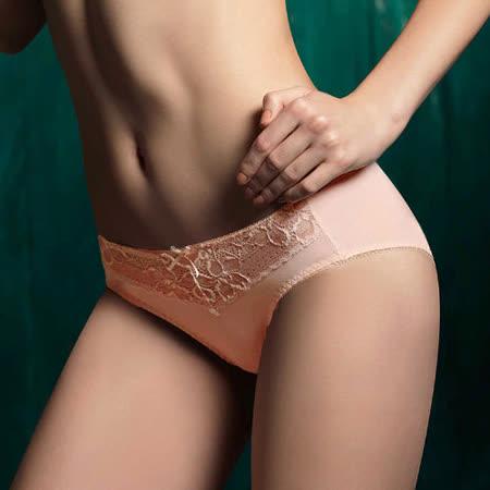 【LADY】菲莉絲系列 蕾絲中腰三角褲(典藏膚)