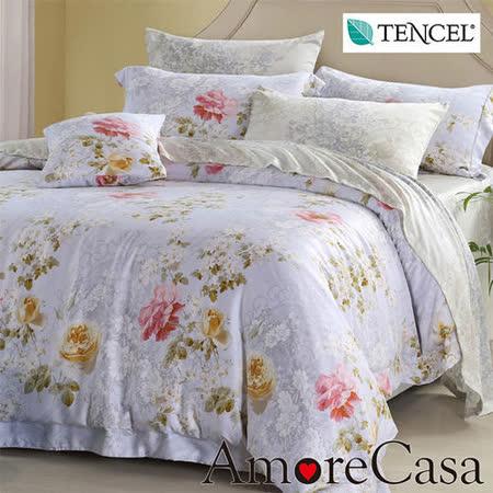 【AmoreCasa】馨香花房 100%TENCEL天絲雙人四件式被套床包組