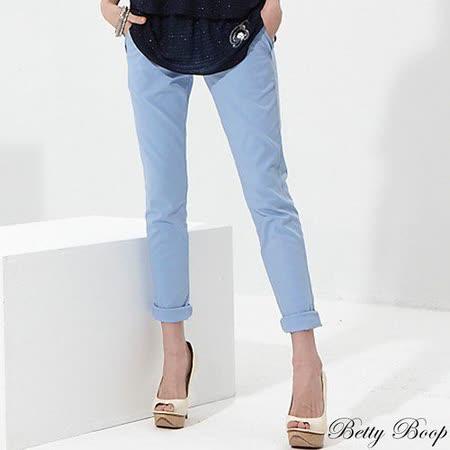 【Betty Boop貝蒂】完美剪裁腰鬆緊彈力窄管褲(共二色)