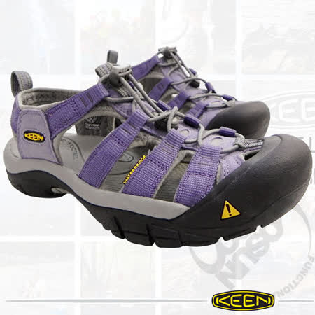 【KEEN】《送多用途背包》Newport H2 女新款 透氣快乾專業登山健行護趾涼鞋 /淡紫 1003465