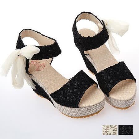 《JOYCE》夏日必買增高撞色楔型跟涼鞋