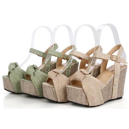 《JOYCE》羅馬魅力 波西米亞編織楔型跟涼鞋