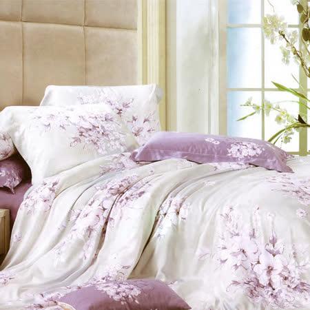 《KOSNEY 潮水之戀》雙人100%天絲TENCEL四件式兩用被床包組