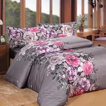 《KOSNEY 濃情之戀》雙人100%天絲TENCEL四件式兩用被床包組