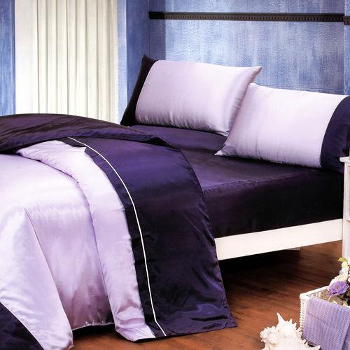~KOSNEY 魅惑深紫~雙人 絲緞四件式床包被套組