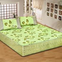 《KOSNEY 綠彩》單人床包式亞藤蓆2件組台灣精製