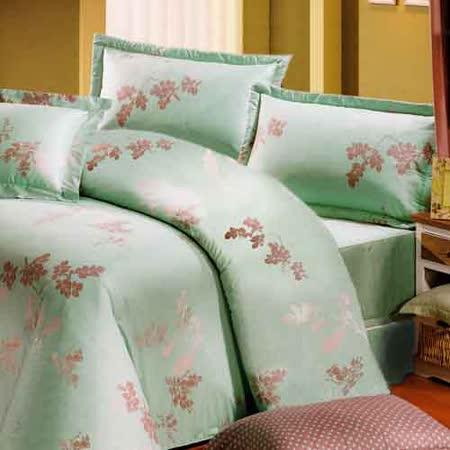 《KOSNEY 飄絮魅力 》雙人100%活性精梳棉六件式床罩組台灣製