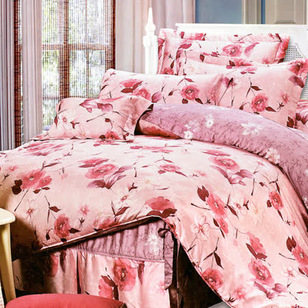 《KOSNEY 浪漫之戀》雙人100%天絲TENCEL四件式兩用被床包組