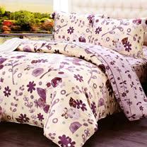 《KOSNEY 盛夏的花朵》雙人100%天絲TENCEL四件式兩用被床包組