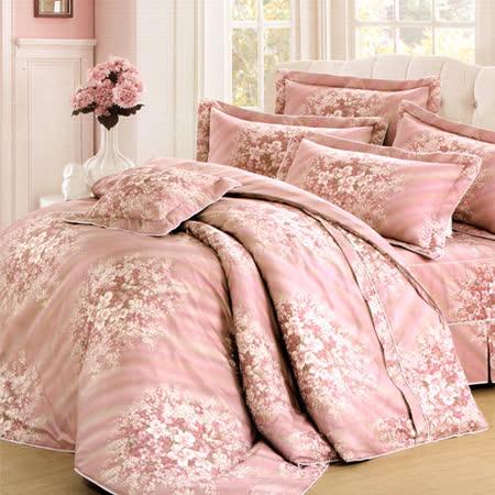 《KOSNEY 愛情玫瑰 》雙人100%活性精梳棉六件式床罩組台灣製