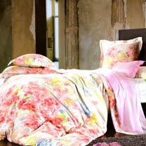 《KOSNEY 美麗花園》特大100%天絲TENCEL四件式兩用被床包組