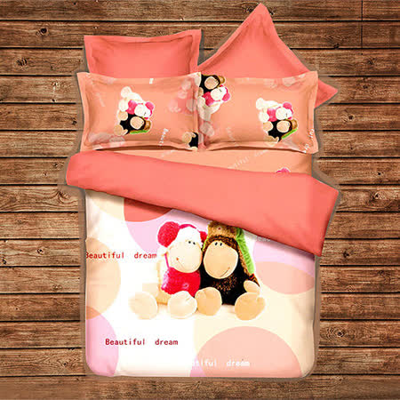 《KOSNEY 布偶戀曲》頂級雙人天絲絨四件式床包被套組