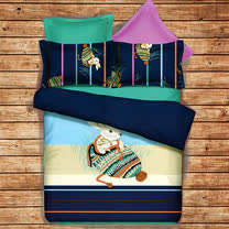 《KOSNEY 依偎童話》頂級加大天絲絨四件式床包被套組