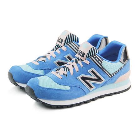 (女)NEW BALANCE 復古鞋 藍/粉紅-WL574BFL