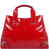 KENNETH COLE 紅色亮面漆皮鎖扣飾邊手提包【大型】KENb073