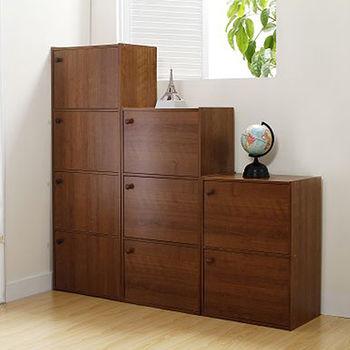 小田園高級雙門木製組合收納櫃(41.7*28.4*60cm)