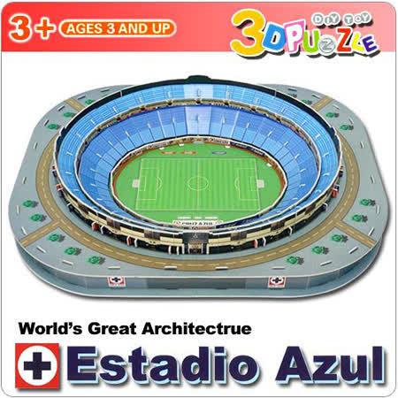 【生活百貨任選】3D立體拼圖之-世界好好玩-Estadio Azul體育場