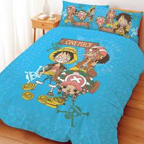 【享夢城堡】航海王 尋寶之路系列-單人床包兩用被組