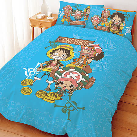 【享夢城堡】航海王 尋寶之路系列-雙人床包薄被套組