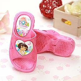 【童鞋城堡】朵拉粉色DORA小女生拖鞋-台灣製造DR1403