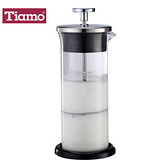 Tiamo 玻璃奶泡杯400ml附底墊 (HG5266)