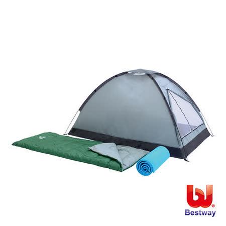 《購犀利》Bestway 帳篷 睡袋 睡墊雙人露營套裝組