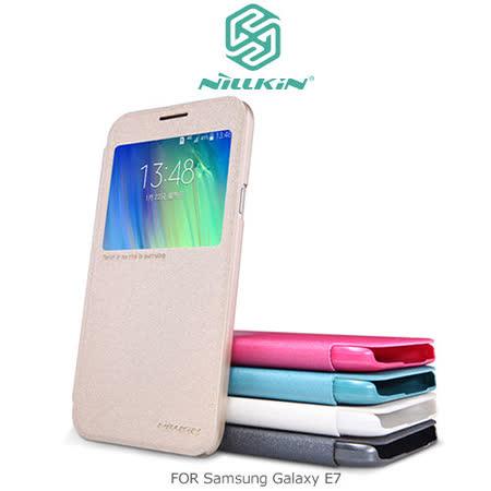 NILLKIN Samsung Galaxy E7 星韵系列 開窗側翻皮套
