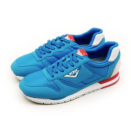 【PONY】男 經典復古慢跑鞋 PONY 72系列 藍紅灰 51M1RR64RB