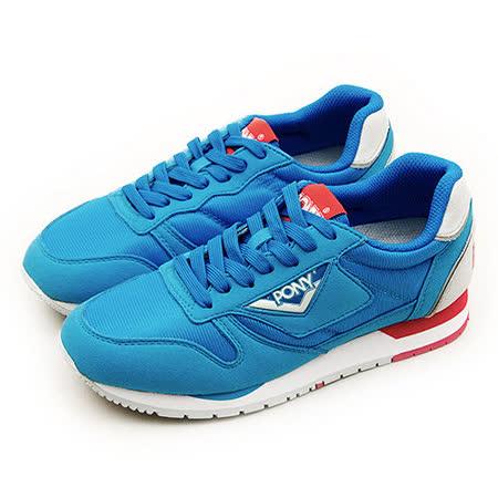 【PONY】女 經典復古慢跑鞋 PONY 72系列 藍紅灰 51W1RR63RB