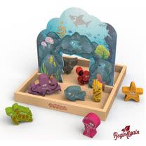 美國 Begin Again 木質故事玩具 (海洋世界顏色系列)