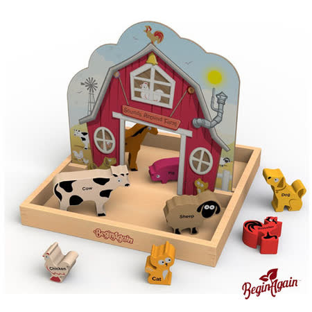 美國 Begin Again 木質故事玩具 (農場動物叫聲系列)