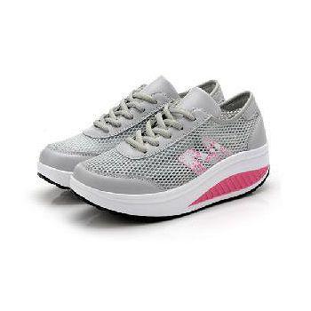 預購-韓國KW. Y717-7萊卡網布透氣防滑健走鞋 (灰)