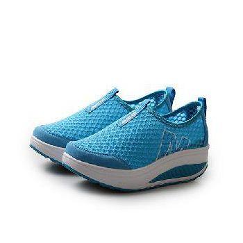 預購-韓國KW. Y719-5休閒經典健走舒適彈力健走鞋 (藍)