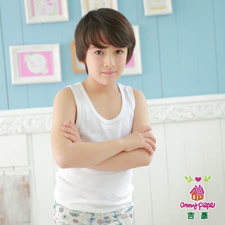【Anny pepe】男童白色背心內衣(精梳美國棉)