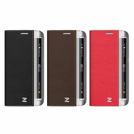 ZENUS SAMSUNG GALAXY S6 Edge 簡約牛皮 書本式皮套