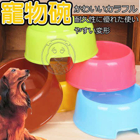 寵物專用糖圈造型寵物碗2入(顏色隨機出貨)