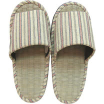 【波克貓哈日網】藺草室內拖鞋◇日本製女用◇《米色條紋》