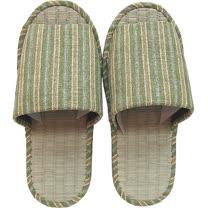 【波克貓哈日網】藺草室內拖鞋◇日本製男用◇《黃綠色條紋》