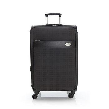 【金安德森】24吋英式風格 專利格紋旅行箱-瑪瑙黑