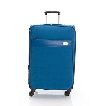 【金安德森】24吋英式風格 專利格紋旅行箱-寶石籃