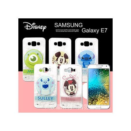 迪士尼授權正版 三星 Samsung Galaxy E7 徽章系列透明彩繪軟式保護殼 手機殼