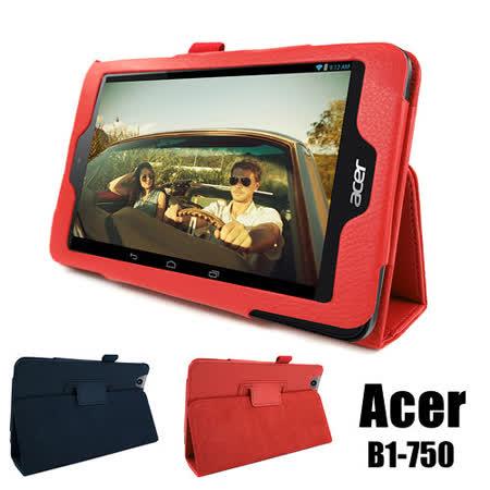 Acer 宏碁 Iconia One 7 B1-750 專用高質感平板電腦磁釦式皮套 保護套 可斜立帶筆插