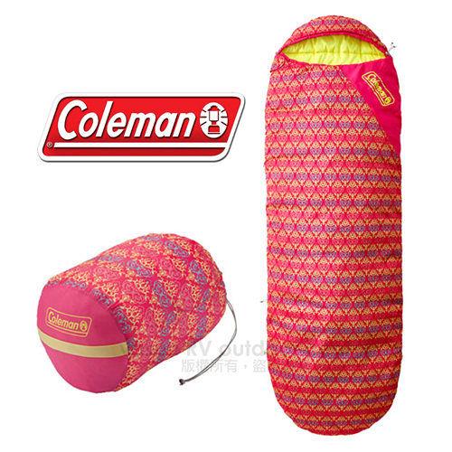 ~美國 Coleman~紅葉圖騰睡蛋 10度C信封型睡袋.纖維睡袋.露營.汽車毯.午睡毯.