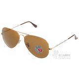 RAY BAN太陽眼鏡 熱銷飛官偏光款(金) #RB3025 00157-62mm