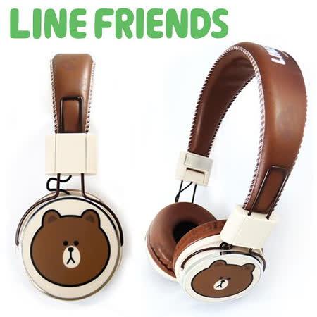 LINE FRIENDS 經典造型立體聲耳機-熊大(LN-EM01)